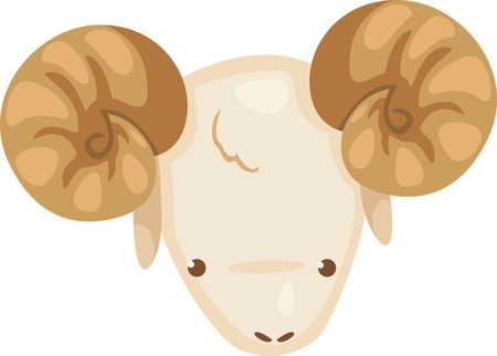 Zodiac signs - Aries icon vector Illustration