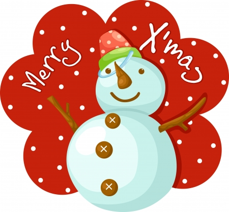 Snowman marry x-mas  Vector