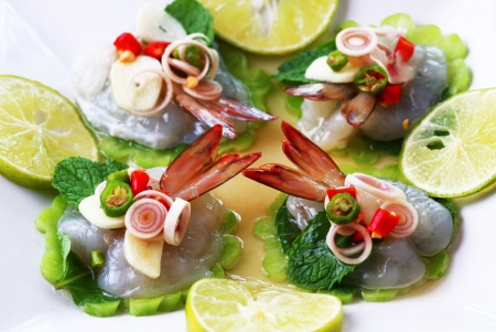 thai pepper: Shrimp in fish sauce Thai sea food