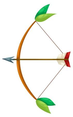 arco y flecha: Indian arquero vector Vectores