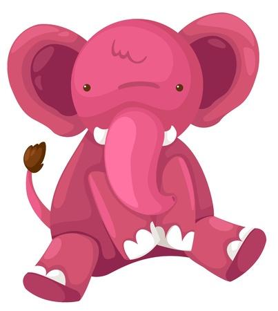 pink elephant vector Illustration