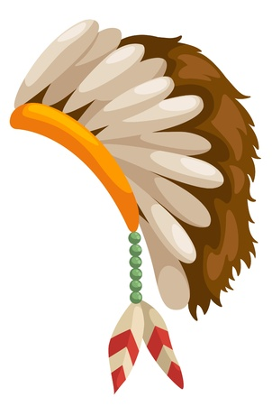 chieftain: native american headdress vector Illustration