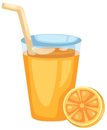 Orange juice vector Vector