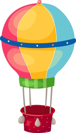 luftschiff: Illustration der isolierten Ballon vector Illustration