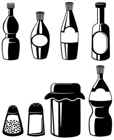 poivre noir: illustration de vecteur condiment isol� Illustration