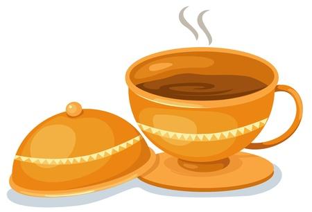 Tea cup vector illustration Stock Vector - 17623556