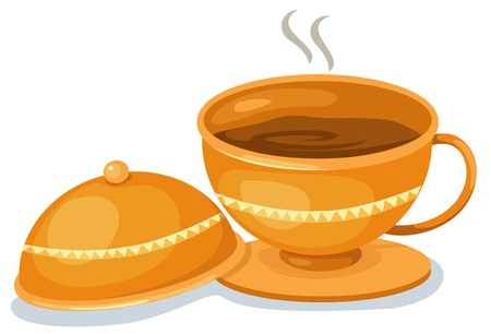 Tea cup vector illustration Stock Vector - 17623556