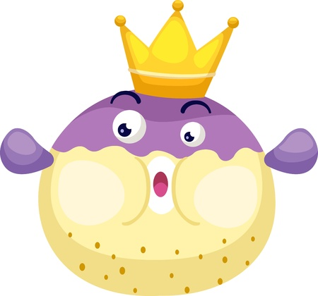 bloat: illustration of isolated king blowfish vector