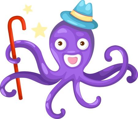 cuttlefish: illustration of isolated octopus vector