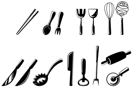 illustration of isolated  kitchen tools set vector Stock Vector - 17623533