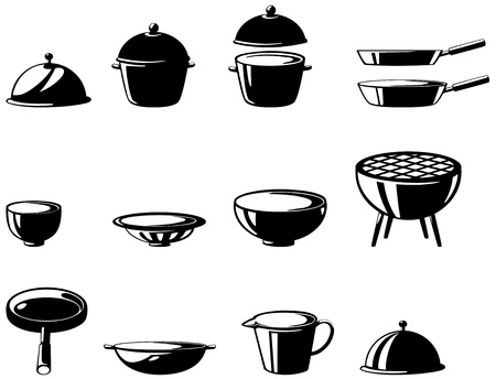 illustration of isolated  kitchen tools set vector