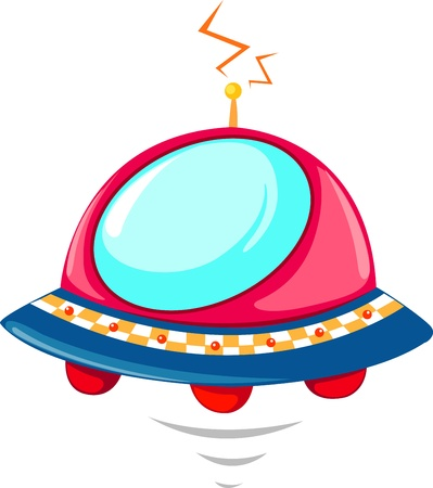 illustration of isolated  flying UFO vector Stock Vector - 17623586