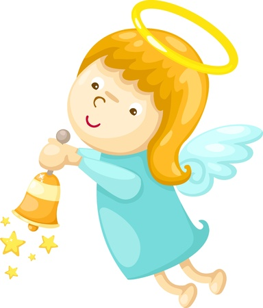 ringing: angel  Vector illustration  on white background