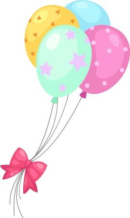 balloons  Vector illustration  on white background Stock Vector - 17623592