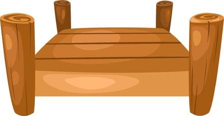 puente ilustración vectorial sobre fondo blanco Ilustración de vector