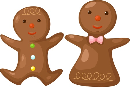 Gingerbread   Vector illustration   on white background Vector