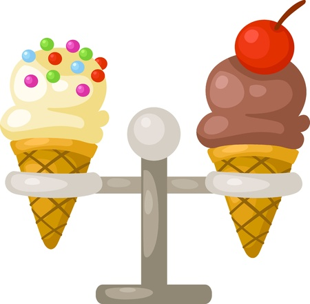 illustration of isolated ice cream cone vector  on white background Stock Vector - 17623597