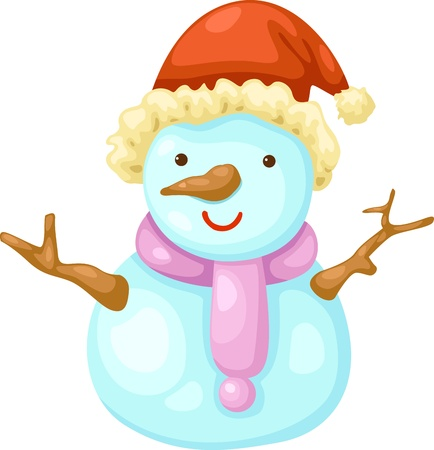 Snowman  Vector illustration  on white background Stock Vector - 17623500