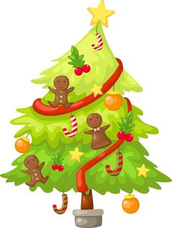 tree christmas  Vector illustration  on white background Stock Vector - 17623490