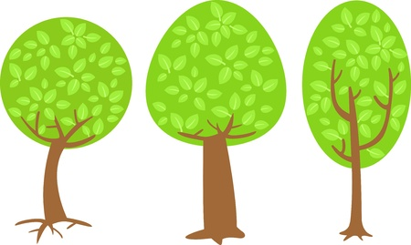 tree   Vector illustration  on white background Stock Vector - 17623529