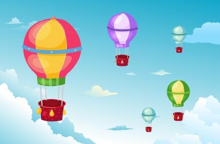 balloon in the sky  Stock Vector - 17847755