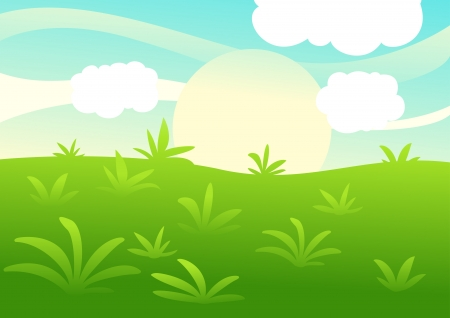 Green Landscape background Stock Vector - 17848360