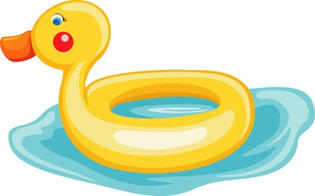 rubber ring: swim ring duck  Illustration