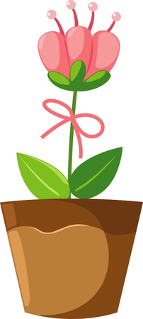 flower in pot  Stock Vector - 17848352