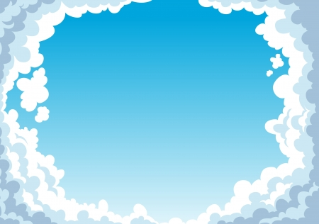 Blue sky with clouds background Stock Vector - 17848354
