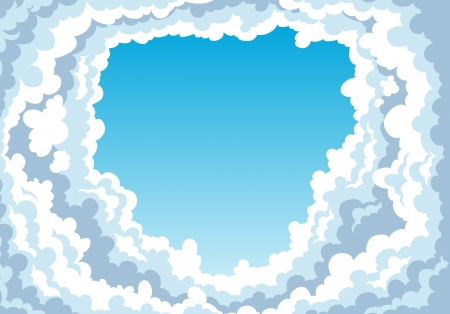 Blue sky with clouds background  Stock Vector - 17848359