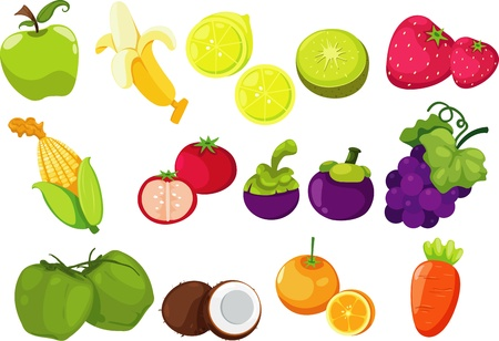 collection of fruits and vegetables Stock Vector - 17848834