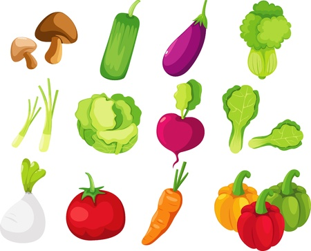 collection vegetables Vector