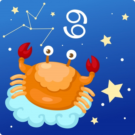 astrology signs: Zodiac signs -Cancer Illustration