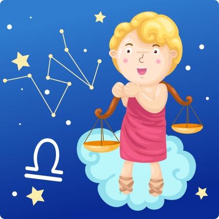 Zodiac signs - Libra Illustration Stock Vector - 17848827