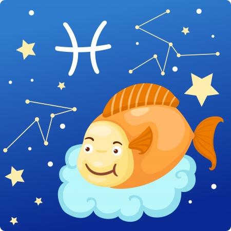 pisces: Zodiac signs - Pisces Illustration