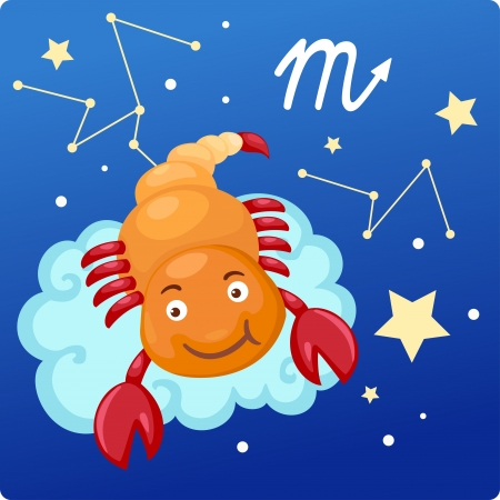 zodiac background: Zodiac signs - scorpio Illustration Illustration