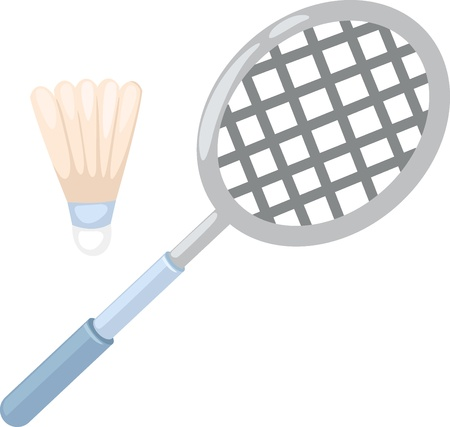 badminton: badminton racket   vector