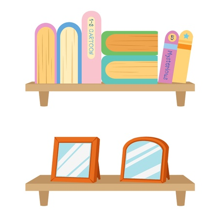Bookshelf with books  vector Stock Vector - 17849524