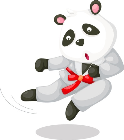 panda:  Panda karate Vector