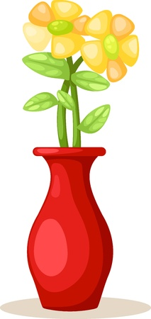 Flower in vase vector Vector