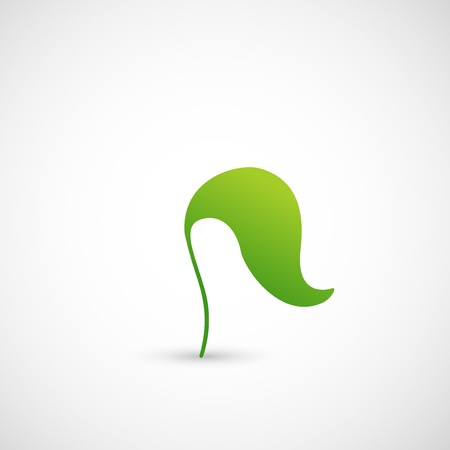 abstract design elements: illustration of Eco icon