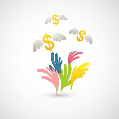 grabbing: money grab  Illustration