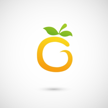 citric: Orange Icon - alphabet shape O