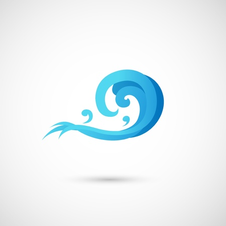illustration of abstract blue wave  Vector