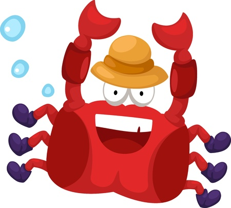 illustration of crab on white background Vector