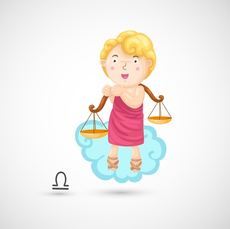 Zodiac signs - Libra Illustration Vector
