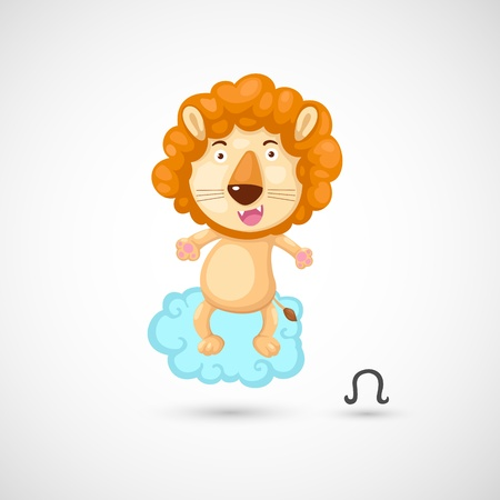 Zodiac signs - Lion Illustration Vector