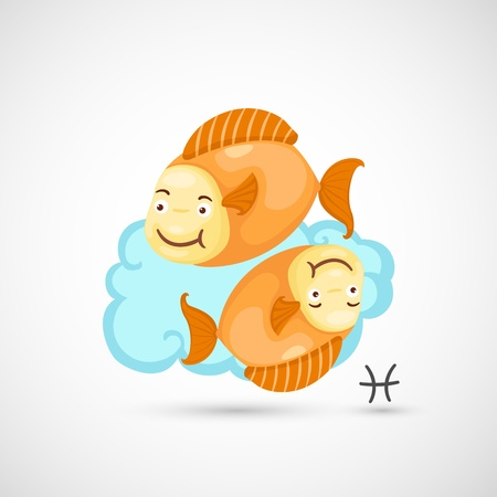 Zodiac signs - Pisces Illustration Vector