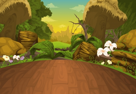 fairy forest: Beautiful Landscape Background