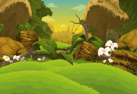 fairy cartoon: Beautiful Landscape Background
